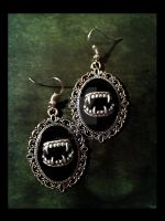 Gothic earrings 'Dracula' by TheSpiderStratagem