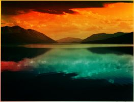 OLD LAKE PHOTO WITH COLOR HUE by GeneLythgow