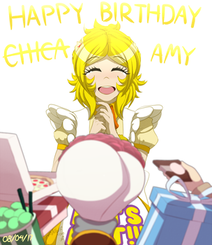 Happy Birthday Amy! by Wolf-con-f