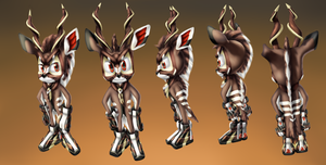 clash the greater kudu, v6 concept art fin by monstaris