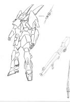 Mecha Sketch 3 by MrDraftsman