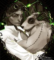 Frankenweenie: Victor and Sparky by Hassly