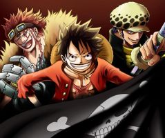 One Piece The 3 Pirate KIng's by Naruke24
