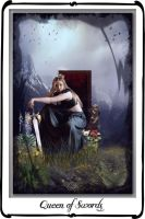 Tarot - Queen of Swords by azurylipfe