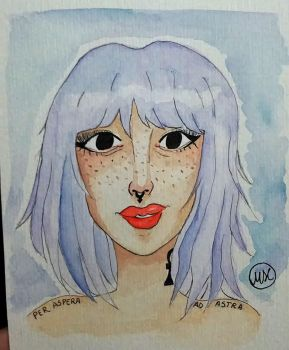 Punk Girl Watercolor by hidingmymess