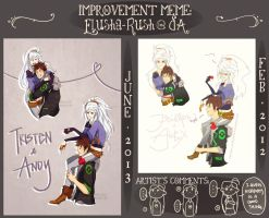 Improvement Meme: Tristen and Andy by Elusha-Rush