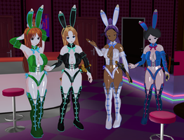 4 Bleach Girl Bunnies by quamp
