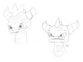 SKYLANDERS Spyro sketches by IcelectricSpyro