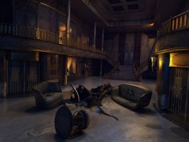 Ghost ship hall by damart3d