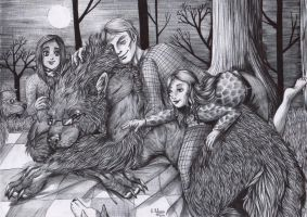 Hannibal - Day  19 - Picnic with the werewolf by FuriarossaAndMimma