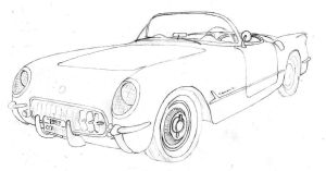 1953 Corvette by andrephmcr
