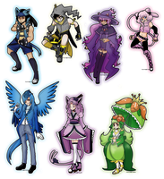 7 Pokemon Custom Adopts - Team OrionaMastacia by azume-adopts