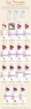 Anime-style Eye Tutorial [Paint Tool SAI] by Nukababe