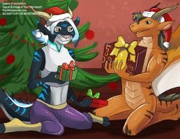 [YCH Commission]  Gift Exchange by Ulario