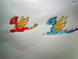 Children of fire and water (adoptables) by minecraftmobs456