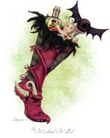 The Wicked Witch Stocking by Steelgoddess