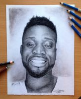 Pencil drawing of Junior Mbeng by AtomiccircuS