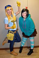 Vanellope and Fix it....Felicity? by KaliMonsterr