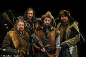 Fili, Kili, Nori and Bofur by Lady--Eowyn