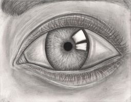Graphite pencil eye drawing by Pen-Tacular-Artist