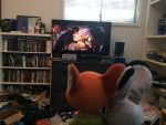 Nick and Judy watching temple of doom by EJLightning007arts