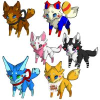 FNAF Toy Fox Adopts by DrizzlePaws
