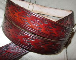 Leather Flame Belt by EarthlyLeatherDesign