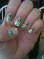 My Neighbor Totoro Nail Art by ineedacat9