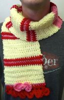 Applebloom Scarf with Ribbon Accents by Matsuban
