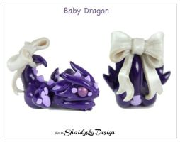 Purple Baby Dragon by ShaidySkyDesign