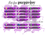 Gallery Navigate Icon Set - purple-joy by Drache-Lehre
