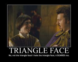 Triangle Face Demotivational by LaDracul