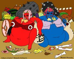 Clubs and Food by overlordofnobodies