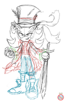 Shadow the mad hatter sketch by shadowhatesomochao