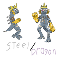 Greed Dragon Fakemon by HoneyShuckle