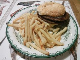 Burger and french fries by EgonEagle