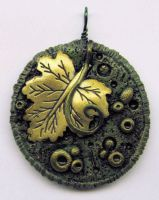 Gold Leaf Pendant by wildhorse63