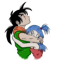 yamcha and bulma reedited by Toranodeshi