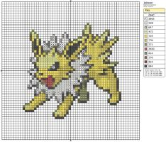135 - Jolteon by Makibird-Stitching