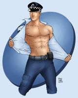 The Survivors Cheesecake Pinup - The Boys In Blue by scarmander