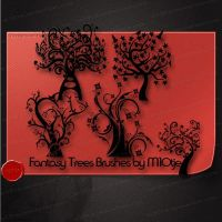 Fantasy Trees Brushes by M10tje