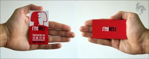 Red Yeti business card by deadbunnystudio