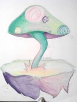 Floating Island Mushroom by beauty-to-pain