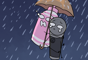 OTP challenge: day 9 Umbrella by Redkitty34