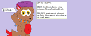 Meet Clyde The Fox. by thetrans4master