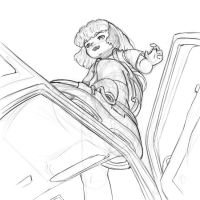 Rem is crushing your car, flee by AlloyRabbit