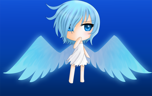 Blue Angel Chibi by ChaoticBlossoms