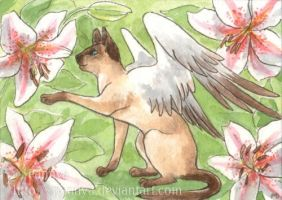 Trade - Siamese and Lilies by Pannya