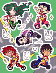 Stickers - Yowamushi Pedal by elefluff