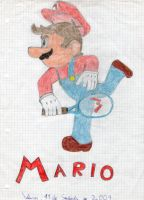 Mario tennis by Dino-drawer